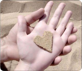 Tiny Sand Heart