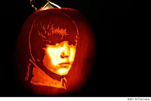 Amazing Justin Bieber Halloween Jack-O-Lantern