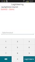 Screenshot of BankID säkerhetsapp