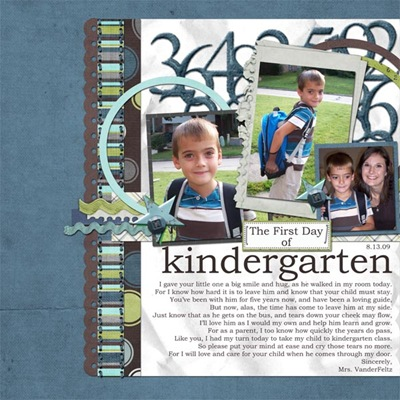 1st day of kindergarten