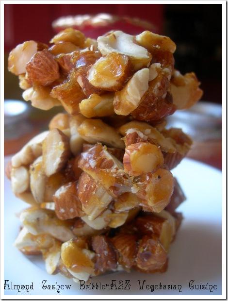 Almond Cashew Brittle
