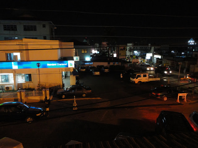 Crazy and busy town.. Accra in the night