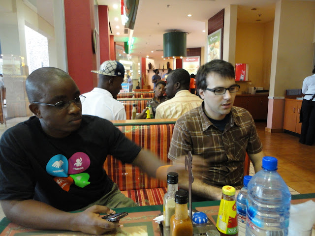 Ben and Isaac on the mall (in Accra! :P)