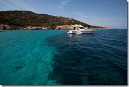 The blue waters near La Maddalena