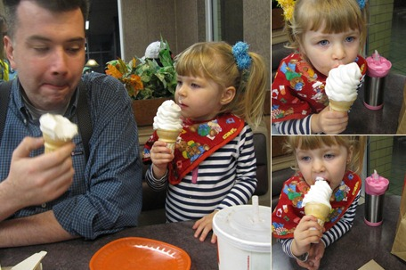 View 2009 Daddy, Chloe and Ice Cream