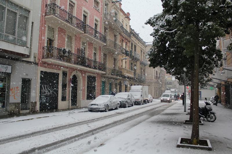 Carrer d'Enric Borràs nevat