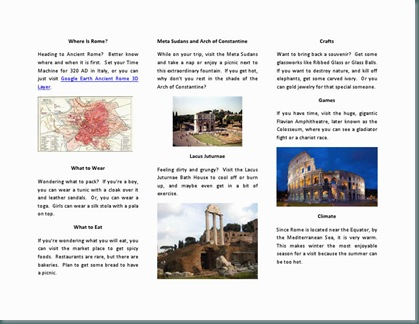 ancient rome travel brochure roma2
