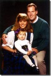 Roger, Julie & Chelsea Campbell, 1990