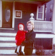 Karen & baby Julie in Allston, Mass., 1963