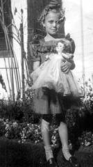 Karen & her Grammie's doll, 1946