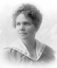 Anna Ostlund young in sailor dress