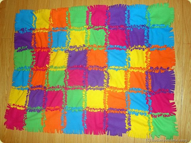 Kiddie Treasures: No-Sew Quilt : no sew quilts - Adamdwight.com