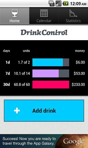 DrinkControl - alcohol tracker