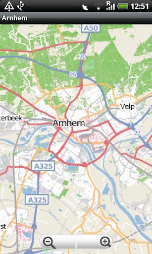 Arnhem Street Map