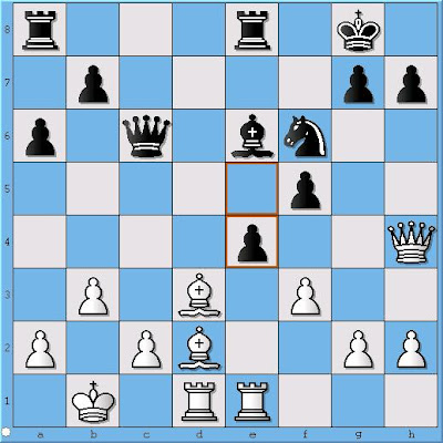 GM Sergey Erenburg - FM Tom Bartell, Position 1