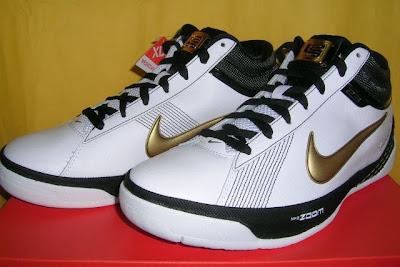 nike zoom lebron ambassador 2 gr white black gold 2 01 Recently Released: Zoom LBJ Ambassador II White/Black/Gold