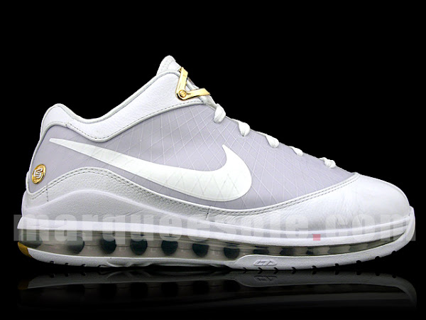 Real Nike Air Max LeBron VII Low 8211 White and Gold Sample