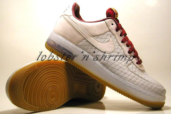 Upcoming Nike Air Force One X LeBron James Cleveland Colorway
