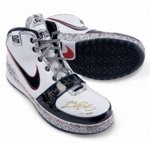Autographed Witness Gold Nike Zoom LeBron VI Limited to 23 ...