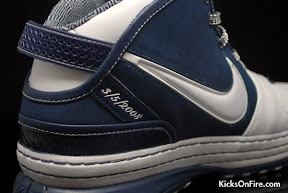 nike zoom lebron 6 gr white navy black 5 02 General Release Zoom LeBron VIs   Black   Navy   New Photos
