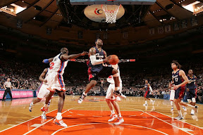 lebron james nba 090204 cle at nyc 22 Not Kobe. Not Jordan. LeBron Does Things Own Way with a 50 point Triple Double!