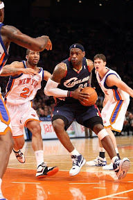 lebron james nba 090204 cle at nyc 02 Not Kobe. Not Jordan. LeBron Does Things Own Way with a 50 point Triple Double!