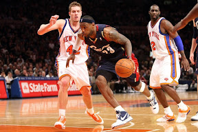 lebron james nba 090204 cle at nyc 19 Not Kobe. Not Jordan. LeBron Does Things Own Way with a 50 point Triple Double!