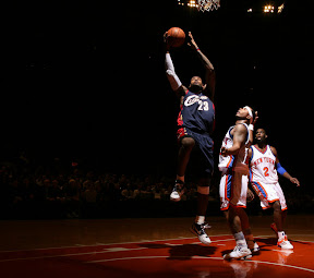lebron james nba 090204 cle at nyc 20 Not Kobe. Not Jordan. LeBron Does Things Own Way with a 50 point Triple Double!
