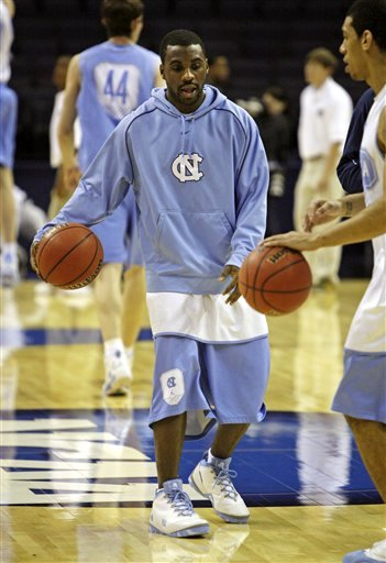 Wearing Brons 8211 Ty Lawson of the North Carolina Tar Heels