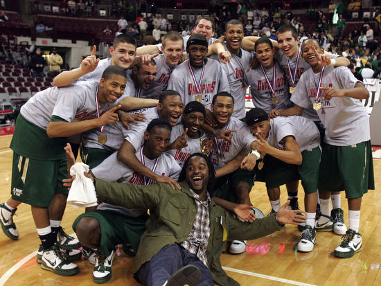 Limited LeBron Jackets Real Pics LBJ at SVSM8217s State Champ Game