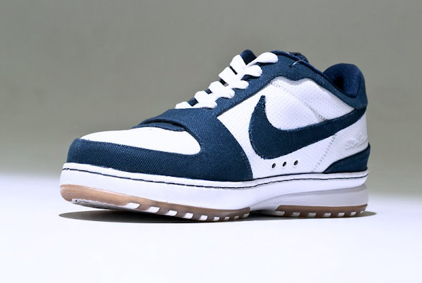 White and Navy 141 Nike Zoom LeBron VI Low Sample Photos