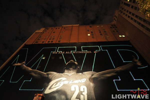 Behind the Scenes of the LeBron Witness MVP Laser Lights