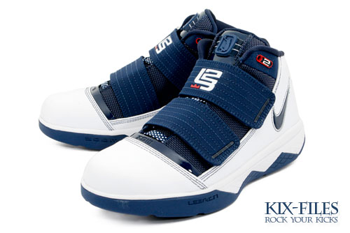 Nike Zoom Soldier III 8211 White and Navy 141 8211 Kids vs Mens