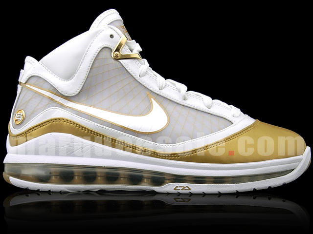 Nike Air Max LeBron 7 VII White Gold China Edition