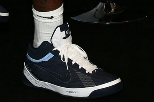 Upcoming Nike Zoom LBJ Ambassador II Navy Denim on King8217s Feet
