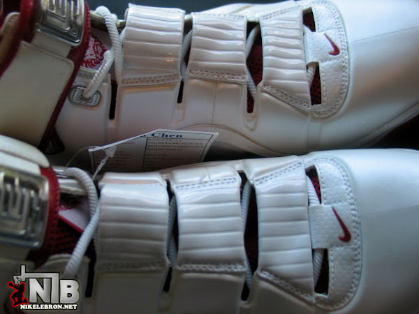 Zoom LeBron IV WhiteVarsity Red Look See Sample From Pou Chen