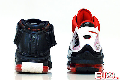 nike air max lebron 7 gr black red white 12 back2 1 2 3 4 5 6 7: Nike LeBron Series Round Up / Comparison
