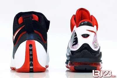 nike air max lebron 7 gr black red white 12 back4 1 2 3 4 5 6 7: Nike LeBron Series Round Up / Comparison