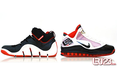 nike air max lebron 7 gr black red white 12 inside4 1 2 3 4 5 6 7: Nike LeBron Series Round Up / Comparison