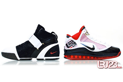 nike air max lebron 7 gr black red white 12 inside5 1 2 3 4 5 6 7: Nike LeBron Series Round Up / Comparison