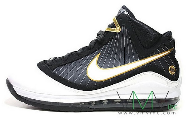 Upcoming Nike Air Max LeBron VII BlackWhiteGold New Pics