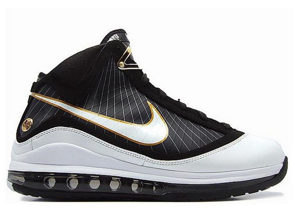 sports shoes 16c2a a122a Detailed Look at 375664-011    White Black Gold    Nike LeBron VII   NIKE  LEBRON - LeBron James Shoes