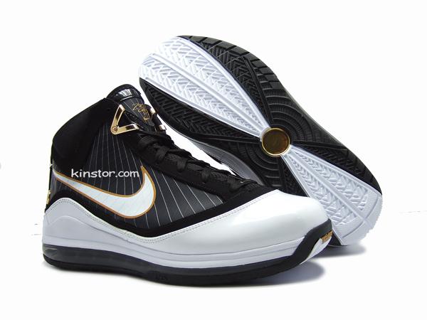 Detailed Look at 375664011  WhiteBlackGold  Nike LeBron VII