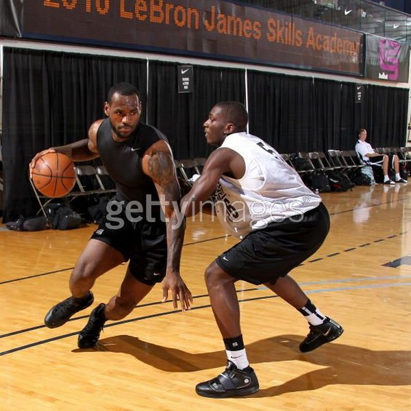 King James Tweets The Decision on Thursday AML8 Sighting at 2010 LeBron James Skills Academy