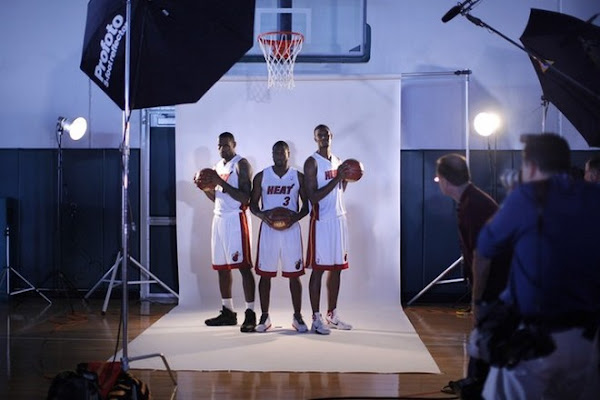 LeBron James amp D Wade amp C Bosh 8211 NBA 201011 Media Day
