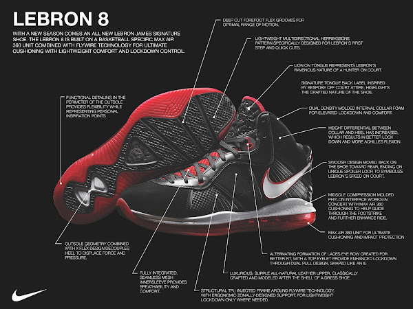 The Eight Nike Air Max LeBron VIII Official Unveiling amp Tech Specs