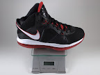 lebron8 black white red ounce Weightionary
