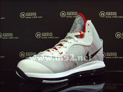 nike air max lebron 8 v2 white black red 2 04 Nike LeBron 8 V/2 Flywire   White/Grey/Varsity Red   New Photos