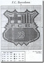 escudo del equipo de futbol BaÇa. Patrones gratis en punto de cruz ...