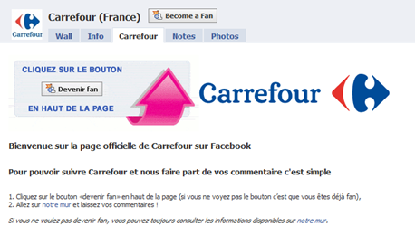 facebook carrefour strategie marketing